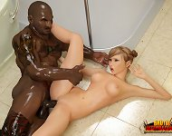 Brutal black mutant. She was disgusted from star..