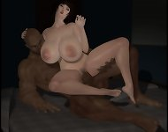 Only Interracial 3D Sex